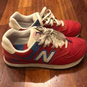 New balance 574 woman sneakers red us 5